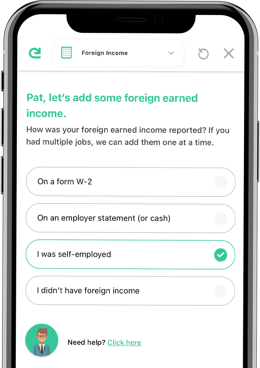 Phone add Foreign income